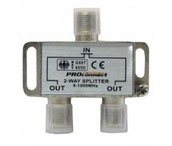 Делитель ТВ*2 под F разъем 5-1000 МГц PROCONNECT