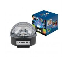 Диско-шар RGB/ MP3 проигр.и 2 колонки, USB и SD разъемы 220V