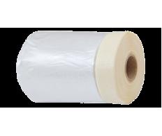 Защитная плёнка с клеящей лентой 33м*140см