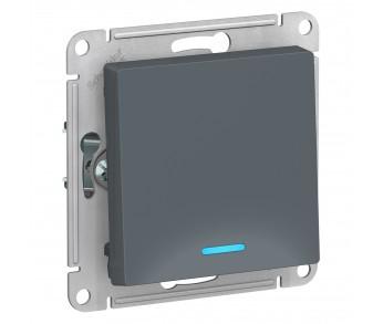 ATLASDESIGN Выключатель 1кл. с подсв. (сх.1а) 10AX грифель (10шт/упак)