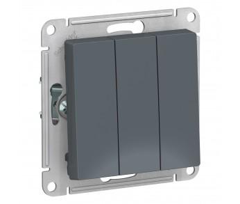 ATLASDESIGN Выключатель 3кл. (сх.3) грифель (10шт/упак)