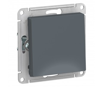 ATLASDESIGN Выключатель кнопочный 1кл. с самовозвратом (сх.1) 10AX грифель (5шт/упак)