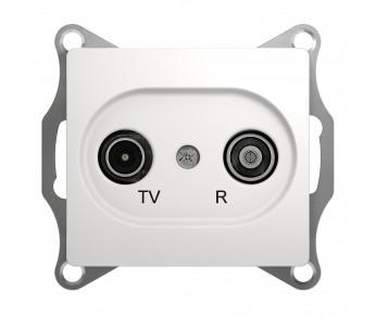 GLOSSA Розетка TV-R 4dB перл. проходная(упак. 10шт.)