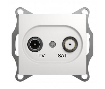 GLOSSA Розетка TV-SAT 4dB перл.проходная (упак. 10шт.)