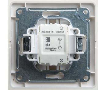GLOSSA Выключатель 1кл. в сборе (сх.1) перл. (упак. 15шт.)