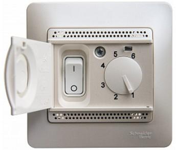 GLOSSA Термостат электронный с датчиком в сборе 10A перл. (упак. 2шт.)