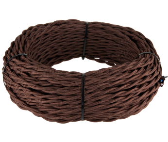 Werkel Витой ретро кабель для внешней проводки 2х1,5 коричневый