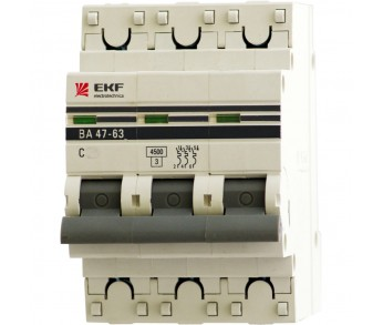 Авт. выкл. EKF ВА47-63 3Р 25А 4,5кА PROxima (под опломбировку)