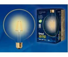 Лампа светодиодная G125 (Лампа-глобы) 8W E27 2250K 220V Uniel
