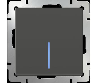 Werkel Выключатель 1-клавишный проходной с подсветкой серо-коричневый