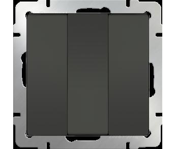 Werkel Выключатель 3-клавишный серо-коричневый