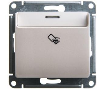 GLOSSA Выключатель 1кл. с карточный (сх.5) перламутр 20 шт упаковка