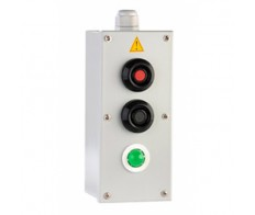 Пост кнопочный ПКУ 15-21.131 IP54 (1з-1р) кр.+(1з-1р) чер.+ зел. лампа Электротехник