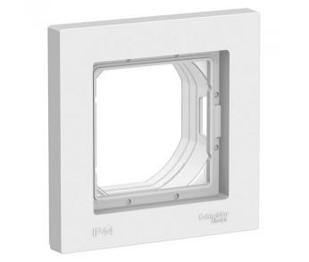 ATLASDESIGN Рамка 1-ая IP44 AQUA белый
