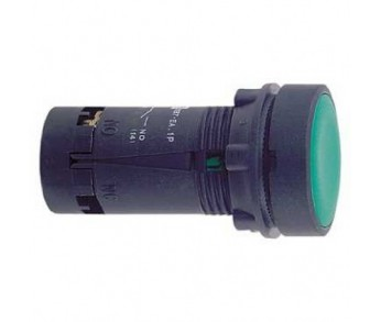 Кнопка зеленая с фиксацией 22мм 1НО Schneider Electric