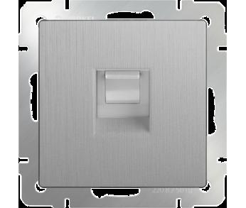 Werkel Розетка Ethernet RJ-45 серебряная рифленая
