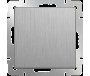 Werkel Выключатель 1-клавишный проходной серебряный рифленый