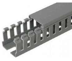Короб перфорированный 25х25 серия М (2м) Импакт IEK (100м/уп)