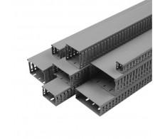 Короб перфорированный 40х60 серия М (2м) Импакт IEK (24м/уп)