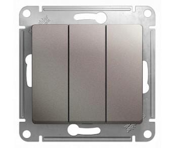 GLOSSA Выключатель 3кл. (сх.3) платина