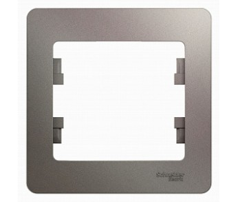 GLOSSA Рамка 1-ая гориз. платина (упак. 30шт.)