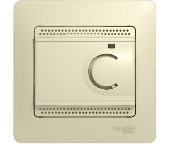 GLOSSA Термостат электронный с датчиком в сборе 10A беж.