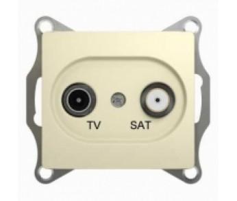 GLOSSA Розетка TV+SAT проходная 4dB беж. (упак.10шт)