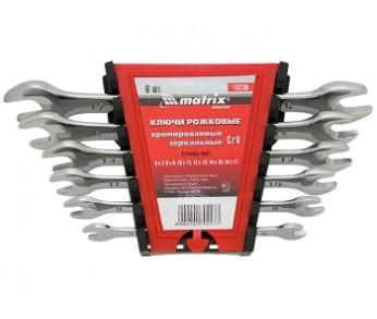 Набор ключей рожковых 6-22мм 8шт. хром MATRIX
