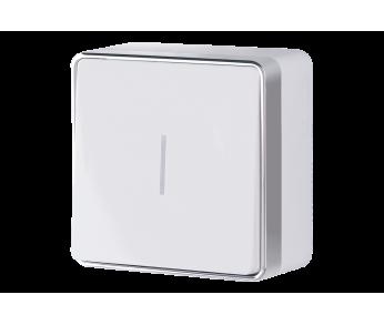 Werkel Выключатель одноклавишный с подсветкой белый Gallant