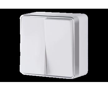Werkel Выключатель двухклавишный белый Gallant