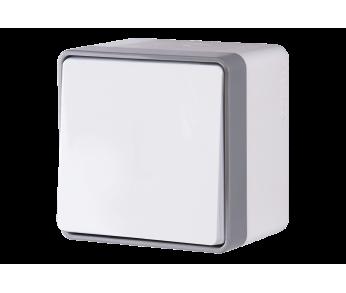 Werkel Выключатель одноклавишный влагозащищенный IP44 белый Gallant