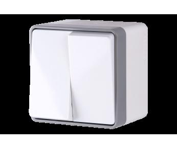 Werkel Выключатель двухклавишный влагозащищенный IP44 белый Gallant