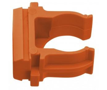 Держатель для труб ⌀25мм оранжевый (10шт/уп) Plast PROxima EKF