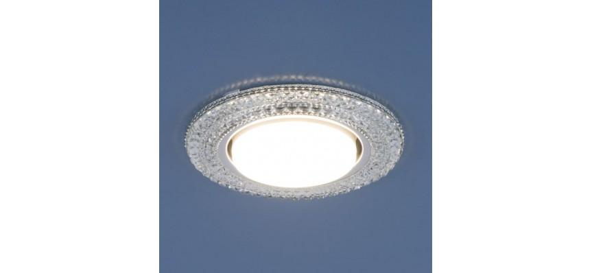 Светильник точечный GX53 3030 CL прозрачный LED подсветка Elektrostandard