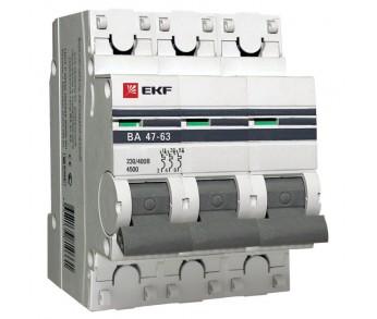 Авт. выкл. ВА47-63 3Р 63А 4,5кА PROxima EKF (под опломбировку)