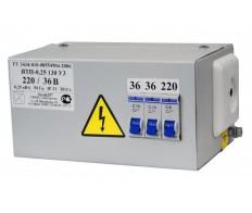 Ящик с понижающим трансформатором ЯТП-0,25 220/36В IP31 250Вт ЭЛТИ