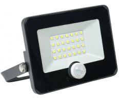 Прожектор светодиодный 20W СДО-06-6500К IP65  с ИК датчиком чёрн. ИЭК