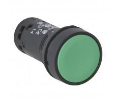 Кнопка зеленая б/ф 22мм НО+НЗ возвратная Schneider Electric