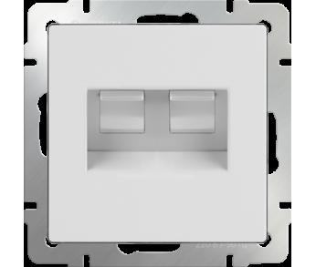 Werkel Розетка телефонная RJ-11 и Ethernet RJ-45 белый