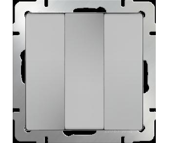 Werkel Выключатель 3-клавишный серебряный
