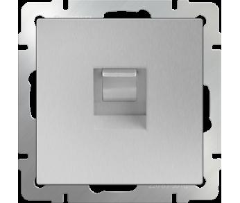 Werkel Розетка Ethernet RJ-45 серебряная