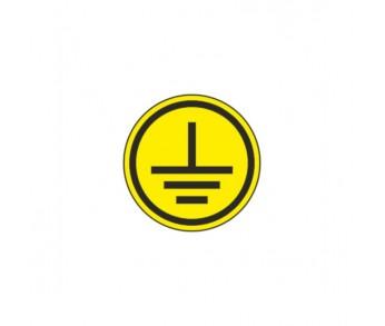 Знак безопастности символ заземления 30х30мм