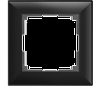 Werkel Рамка на 1 пост черный Fiore
