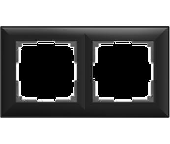 Werkel Рамка на 2 поста черный Fiore