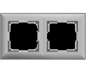 Werkel Рамка на 2 поста серебряный Fiore