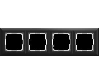 Werkel Рамка на 4 поста черный Fiore