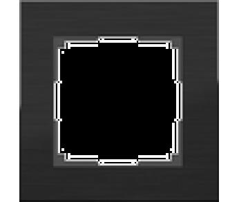 Werkel Рамка на 1 пост черный Aluminium