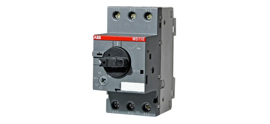 Автомат защ. двиг. MS116 -10.0 (6,3-10.0) А 50кА АBB