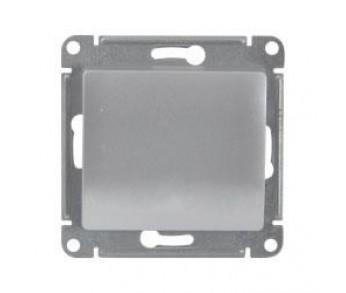 GLOSSA Кнопка нажимная (сх.1) алюминий (упак. 20шт.)