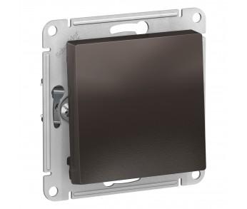 ATLASDESIGN Выключатель кнопочный 1кл. с самовозвратом (сх.1) 10AX мокко (5шт/упак)